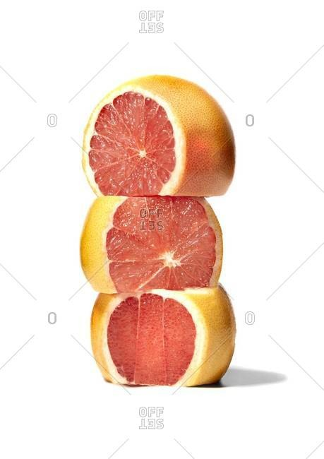 Stack of grapefruit