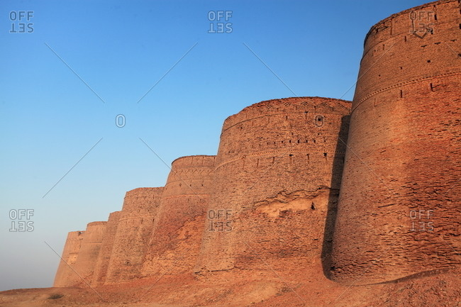 Bahawalpur, Pakistan - January 25, 2012: The Derawar Fort