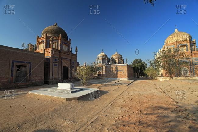 Bahawalpur, Pakistan - January 25, 2012: The Abbasi Royal Graveyard by Derawar Fort