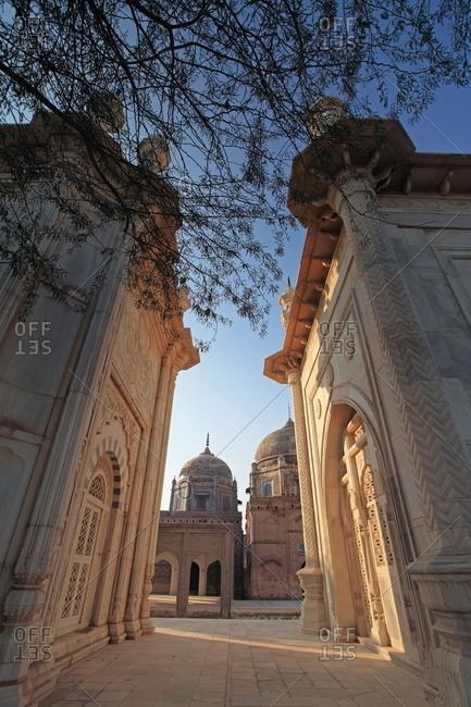 Bahawalpur, Pakistan - January 25, 2012: The Abbasi Royal Graveyard near Derawar Fort