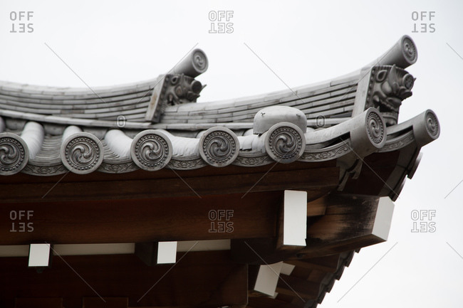 Decorations on an oriental rooftop