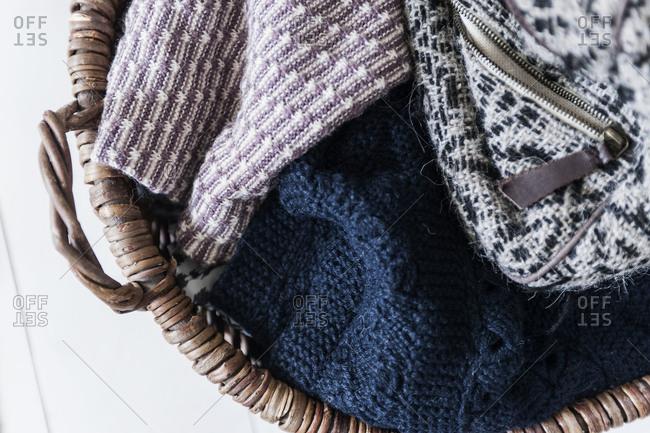 A basket full of knitwear