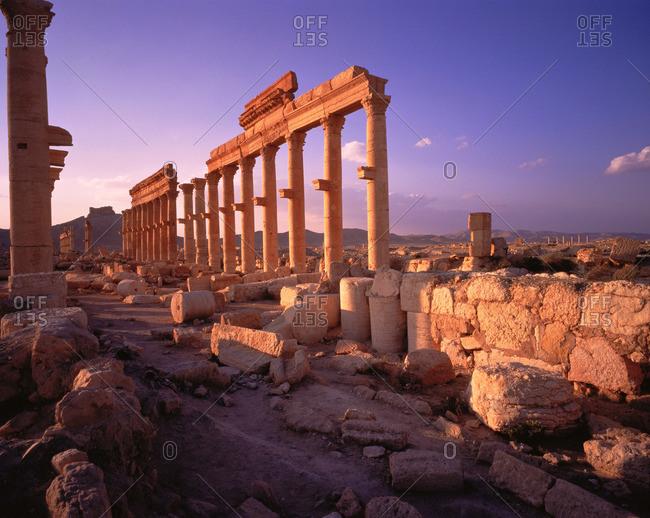 Palmyran ruins in Syria
