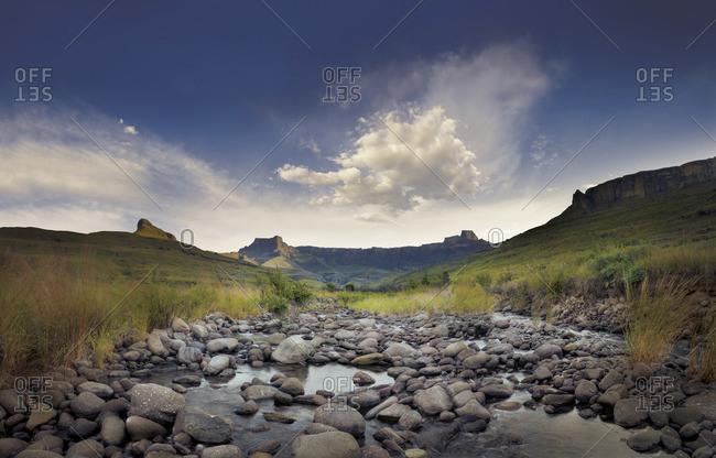 Creek in Drakensberg, Kwa-Zulu Natal, South Africa