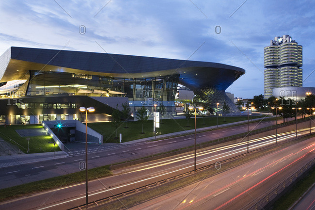 Munich, Germany - June 27, 2008: BMW World complex