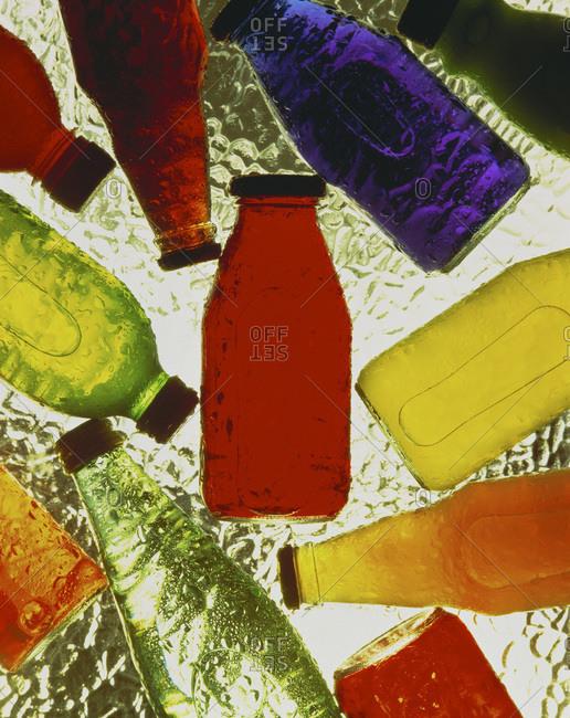 Juice bottles in ice - Offset