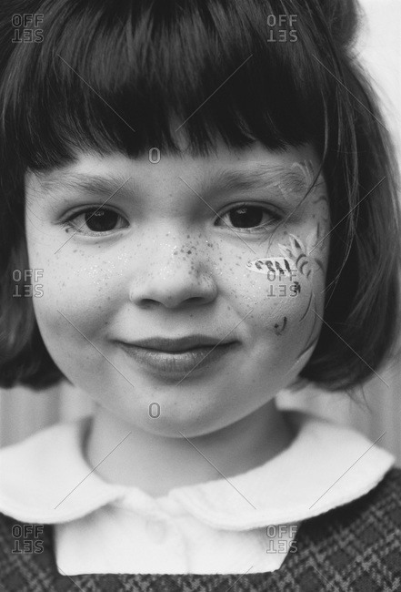 Portrait of Girl with Painted Face