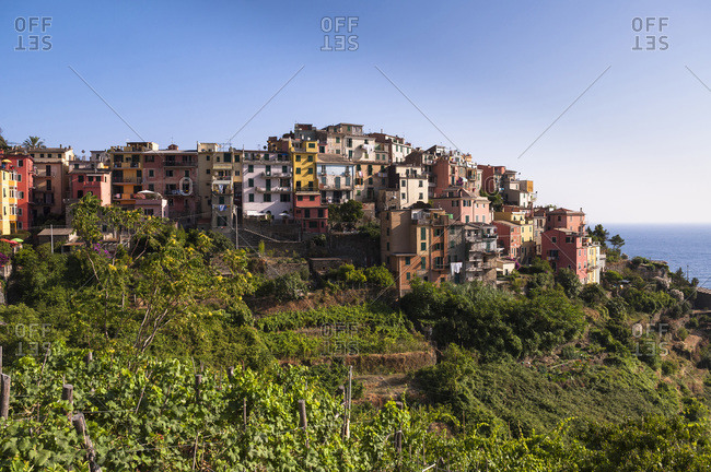 Corniglia on top of Promontory, Cinque Terre