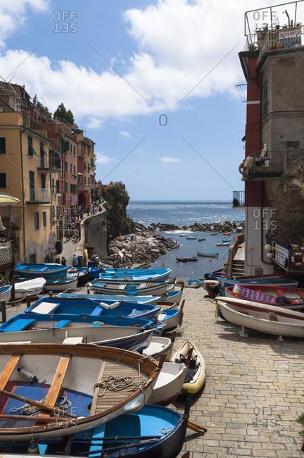 View of Riomaggiore, Cinque Terre