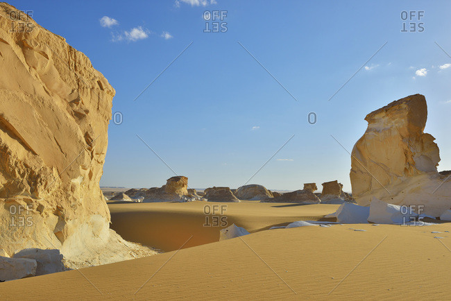 Rock formations in White Desert, Sahara Desert