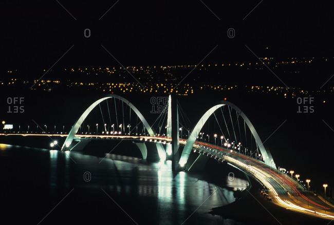 Brasilia, Brazil - March 13, 2008: The Juscelino Kubitschek bridge