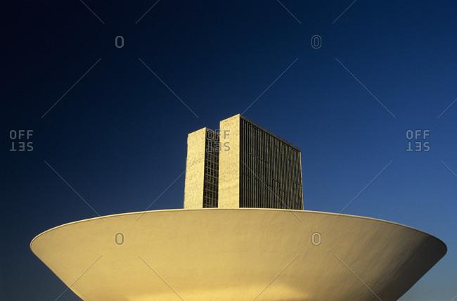 Brasilia, Brazil - April 1, 2008: The Brazilian National Congress in the Three Powers Plaza