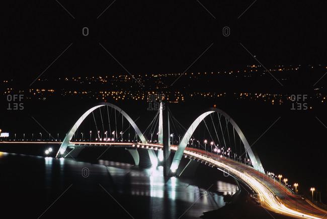 Brasilia, Brazil - April 1, 2008: The Juscelino Kubitschek bridge