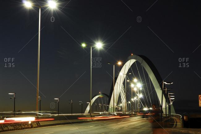 Brasilia, Brazil - April 22, 2006: The Juscelino Kubitschek bridge in Brasilia, Brazil