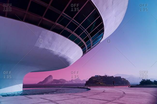Niteroi, Brazil - August 1, 2013: The Niteroi Contemporary Art Museum