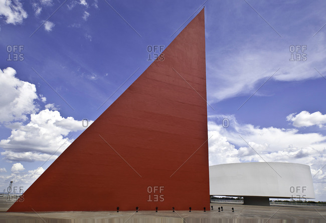Goiania, Brazil - October 23, 2013: The Monument to Human Rights at the Oscar Niemeyer cultural center in Brazil