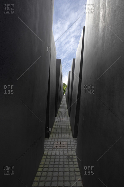 Berlin, Germany - June 2, 2007: Memorial to the Murdered Jews of Europe