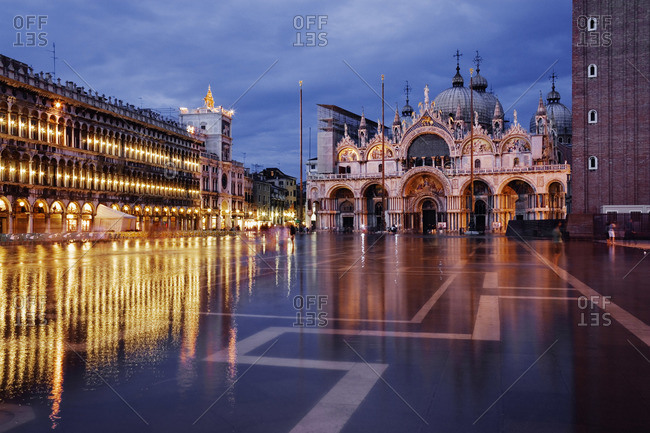 St Mark's Square in the evening, Venice, Italy