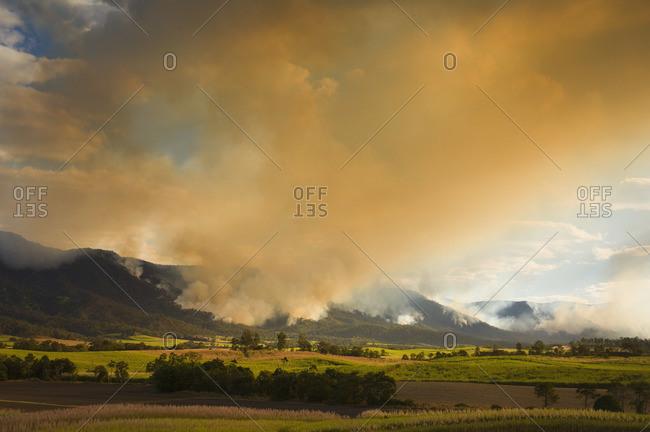 Bushfire in Finch Hatton, Queensland, Australia