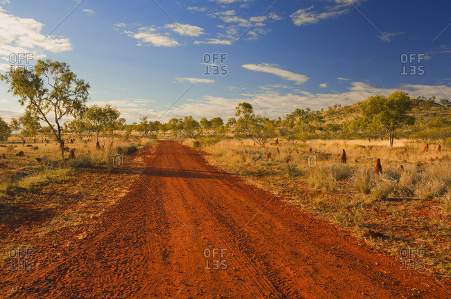 Dirt road in the Australian Outback, Queensland