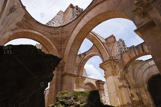 Ruins at the Saint Joseph Cathedral after an earthquake, Guatemala