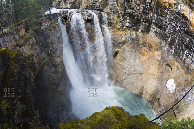 View of a Waterfall at Banff National Park, Alberta, Canada