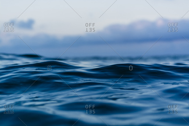Close-up of ripples on the ocean