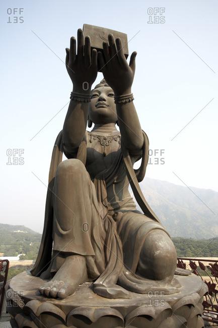 Statue in Po Lin Monastery, Ngong Ping, Lantau Island, Hong Kong, China