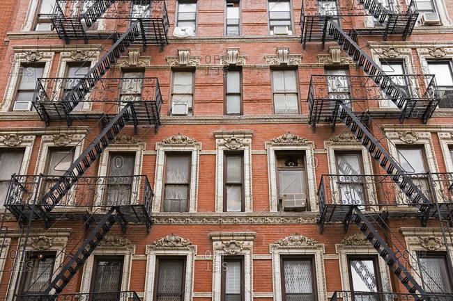 Apartment buildings in Manhattan, New York City, New York, USA