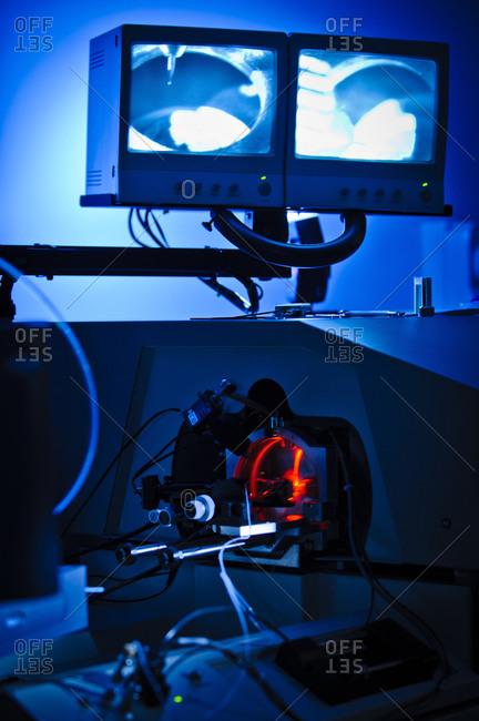 Scientific apparatus in a lab