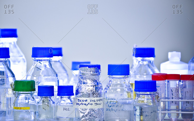 Chemical substances in a lab