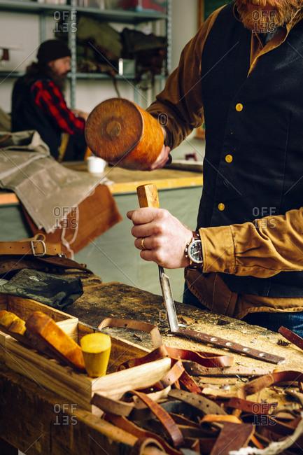Two craftsman in their workshop