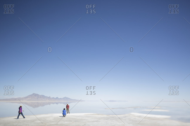 Tooele County, Utah - Tourists visiting Salt Flats