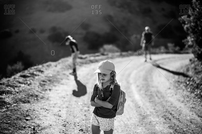 A family on a hike