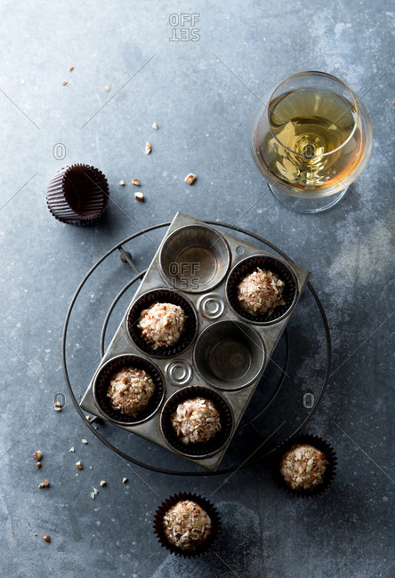 Bourbon balls in cupcake liners