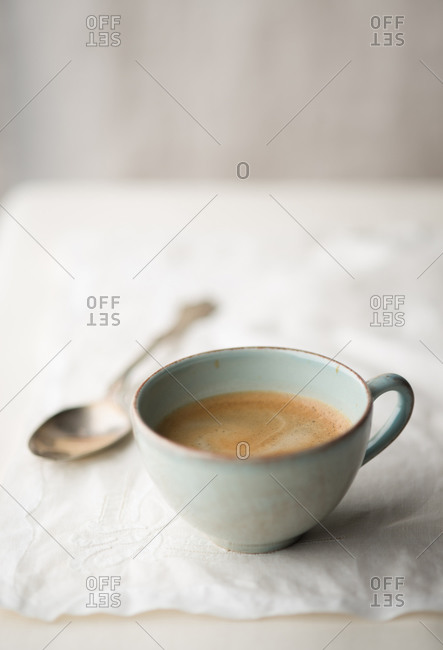 Cup of frothy coffee