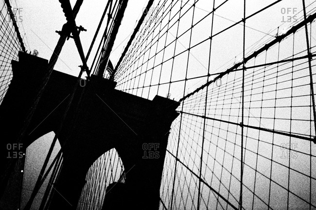 The arches of the Brooklyn Bridge