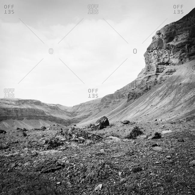 A rocky Icelandic landscape