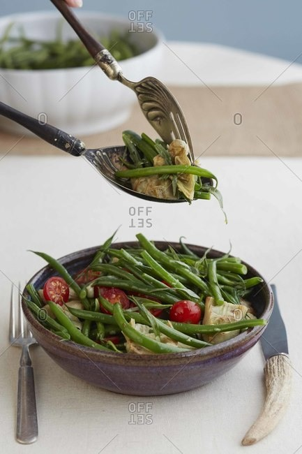 Tarragon and spring bean salad