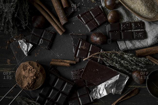 Ingredients for a dessert