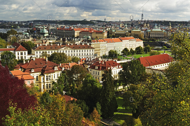 View of Prague from Prague castle, Czech Republic