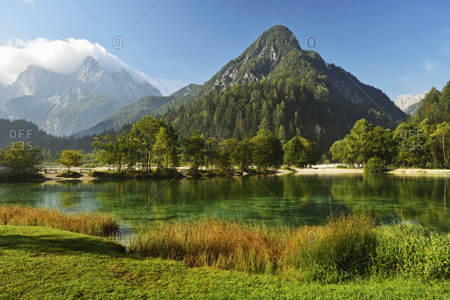 Lake Jasna and Julian Alps, Kranjska Gora, Slovenia