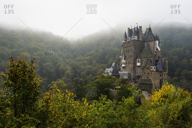 Rhineland-Palatinate, Germany - October 3, 2014: Fairytale castle Eltz near the Moselle Valley