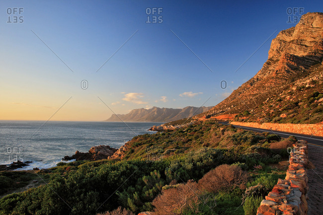 A view of Whale Route at Gordon's Bay, South Africa