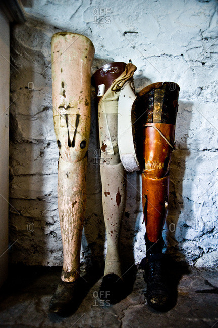 Collection of prosthetic limbs