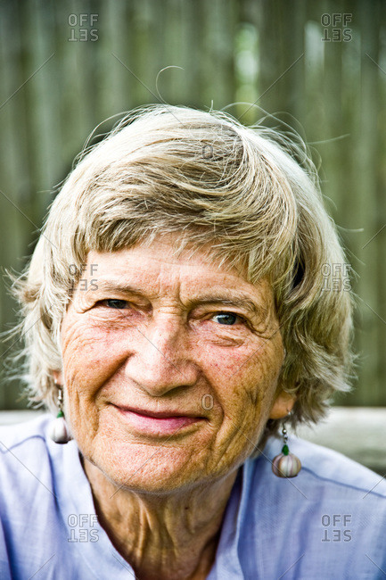 Piermont, NY, USA - August 6, 2010: Portrait of food and gardening expert Joan Gussow