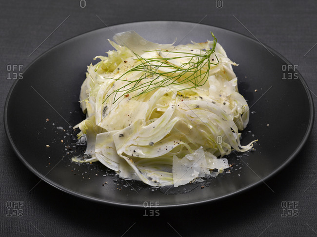 A fennel salad with shaved parmesan