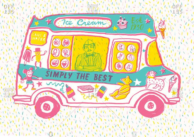 Illustration of an ice cream truck