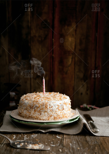 Hazelnut and coconut birthday cake
