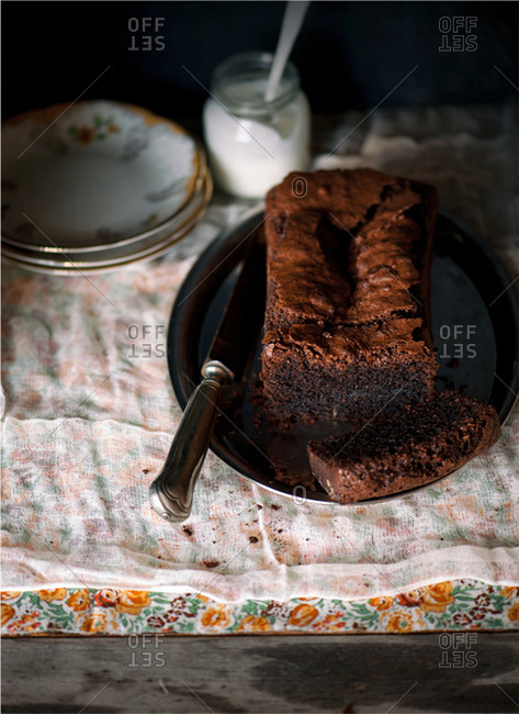 Poppy seed chocolate cake